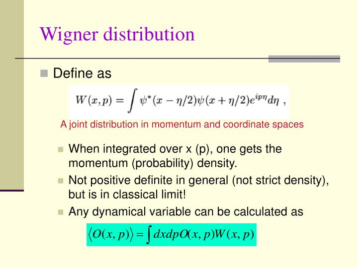 Wigner distribution