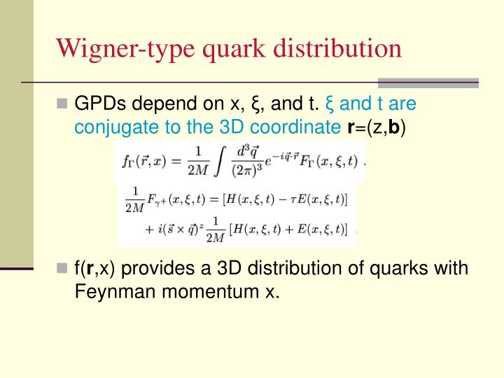 Wigner-type quark distribution