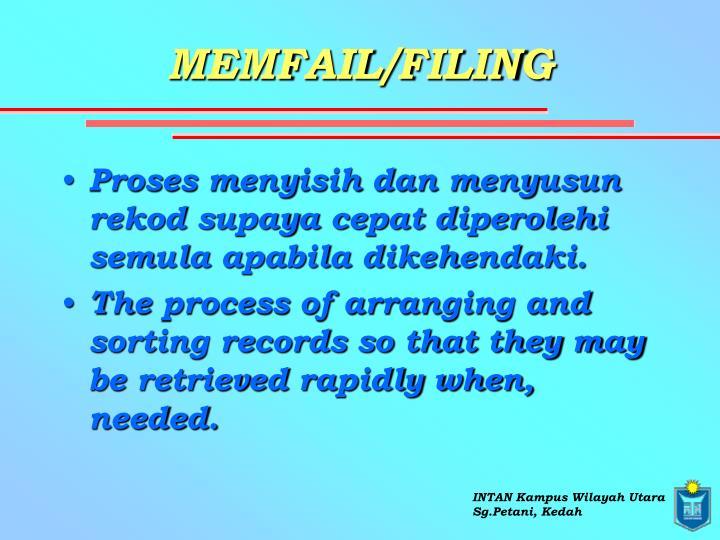 MEMFAIL/FILING
