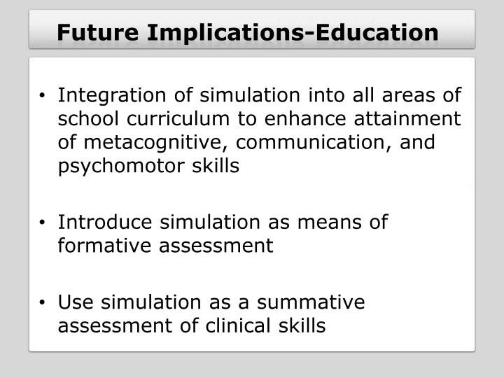 Future Implications-Education
