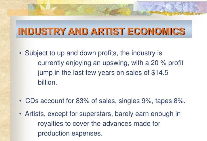 INDUSTRY AND ARTIST ECONOMICS