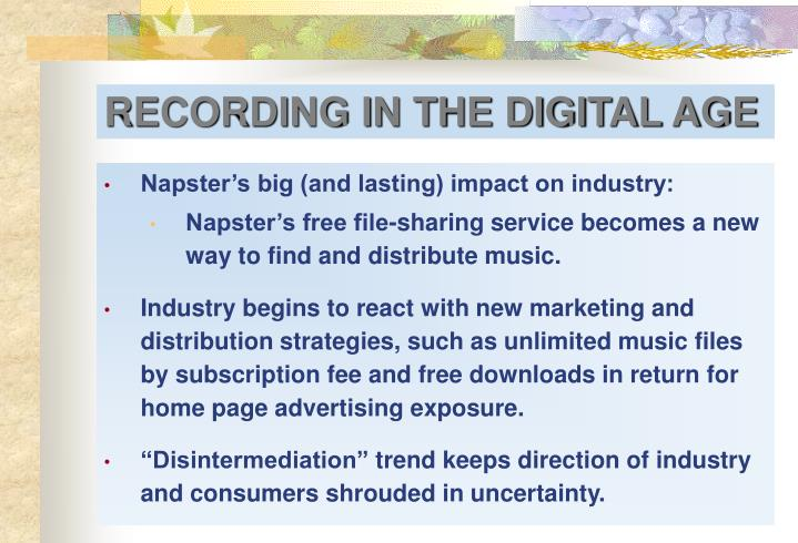 Napster's big (and lasting) impact on industry: