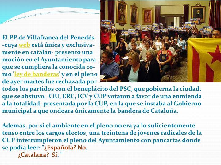 El PP de Villafranca del Penedés