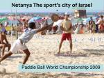 netanya the sport s city of israel