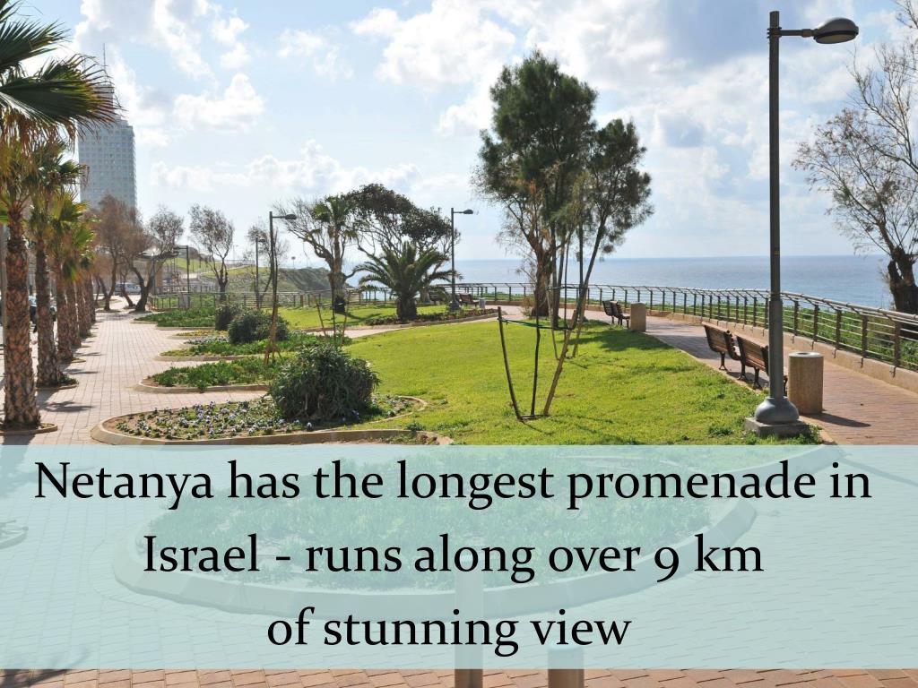 Netanya has the longest promenade in