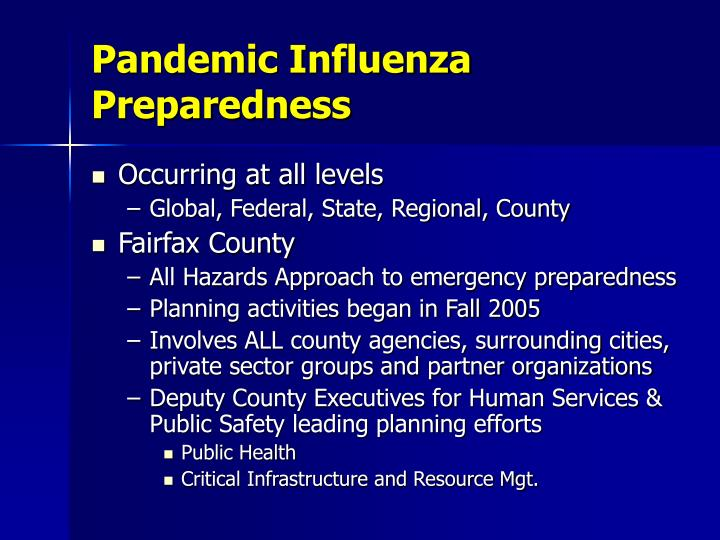 Pandemic Influenza Preparedness