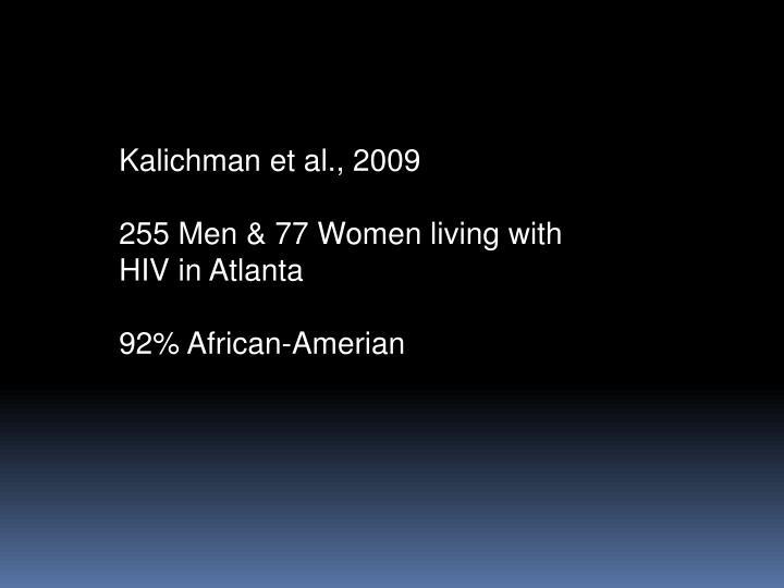 Kalichman et al., 2009