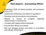 role players accounting officer