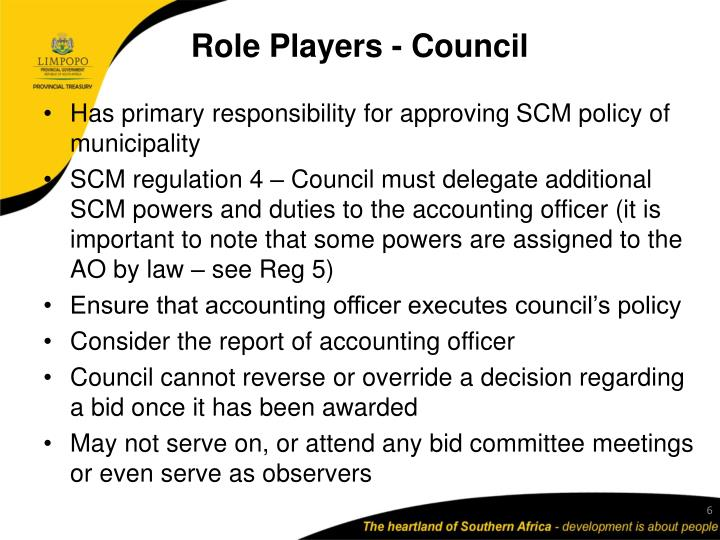 Role Players - Council