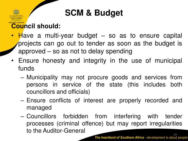 SCM & Budget