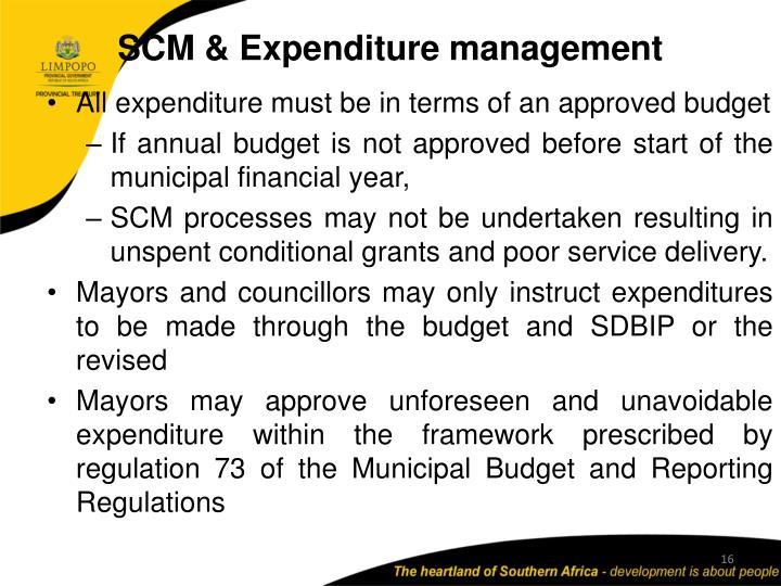 SCM & Expenditure management
