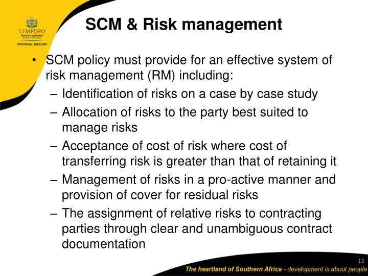 SCM & Risk management