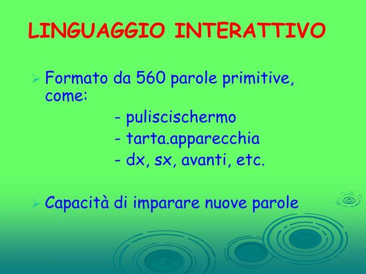 LINGUAGGIO INTERATTIVO