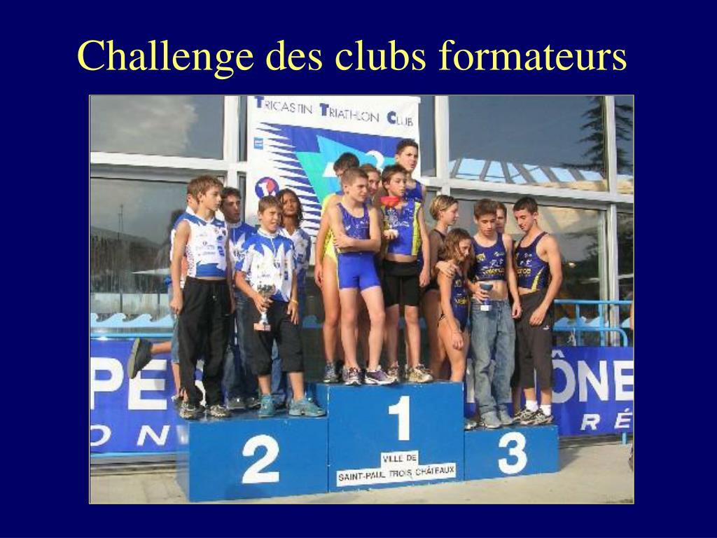 Challenge des clubs formateurs