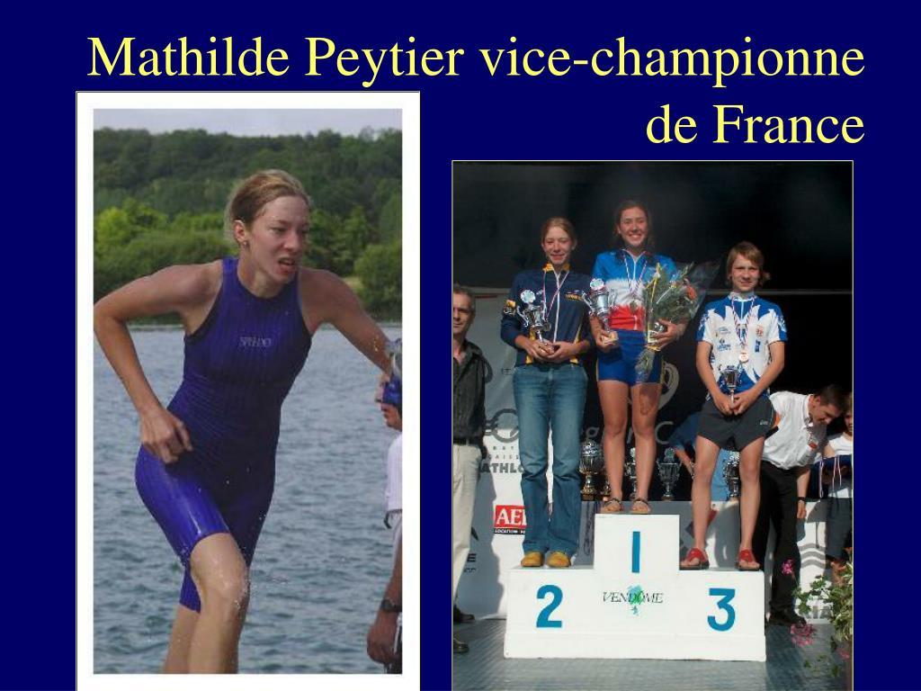 Mathilde Peytier vice-championne de France