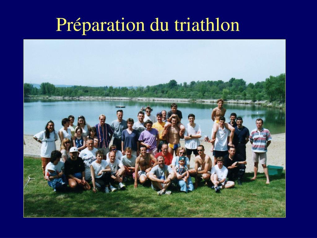 Préparation du triathlon