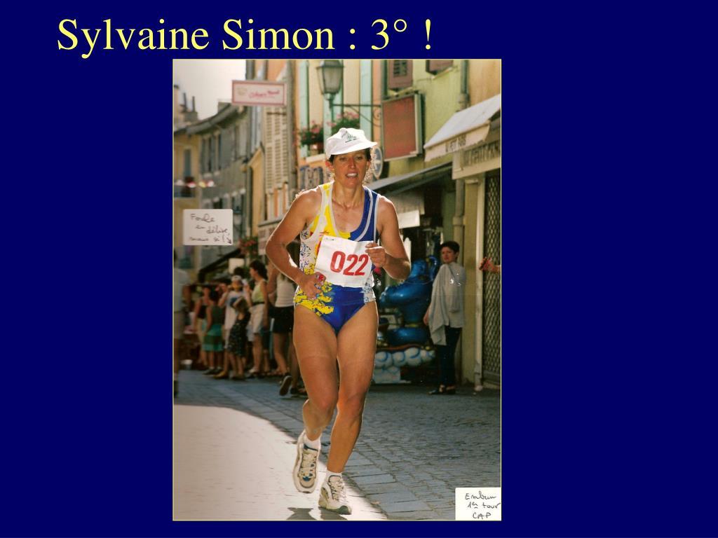 Sylvaine Simon : 3° !