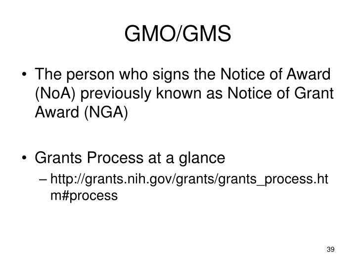 GMO/GMS