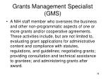 grants management specialist gms