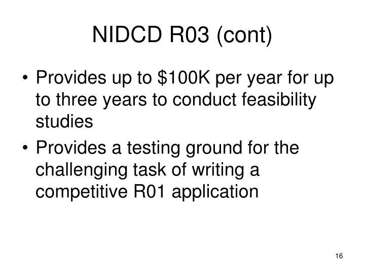 NIDCD R03 (cont)