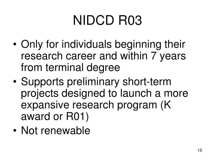 NIDCD R03