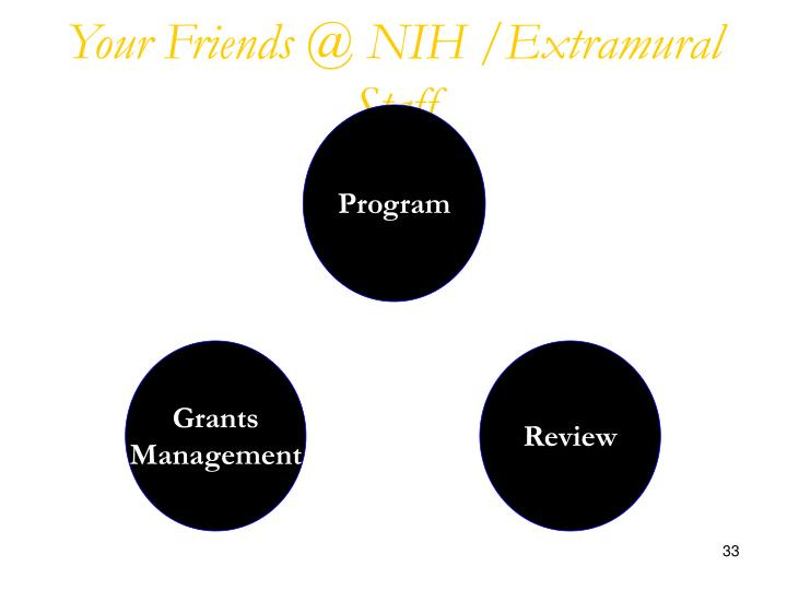 Your Friends @ NIH /Extramural Staff