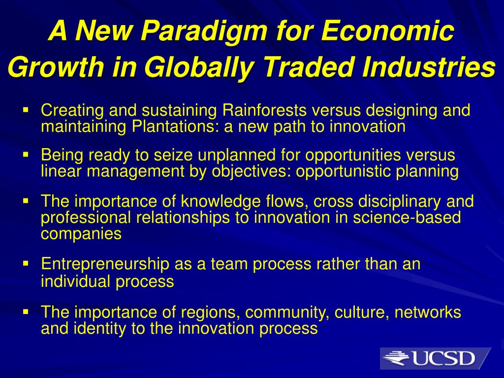 A New Paradigm for Economic Growth in