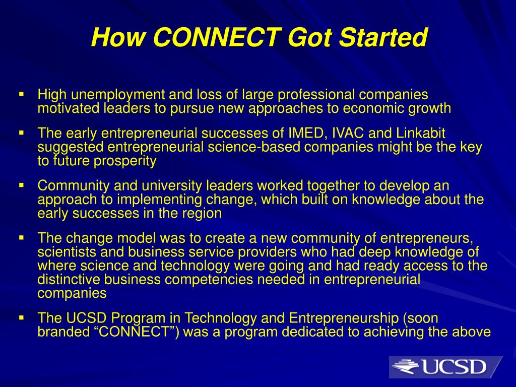 How CONNECT Got Started