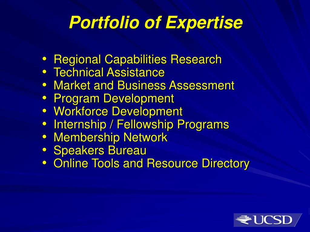Portfolio of Expertise