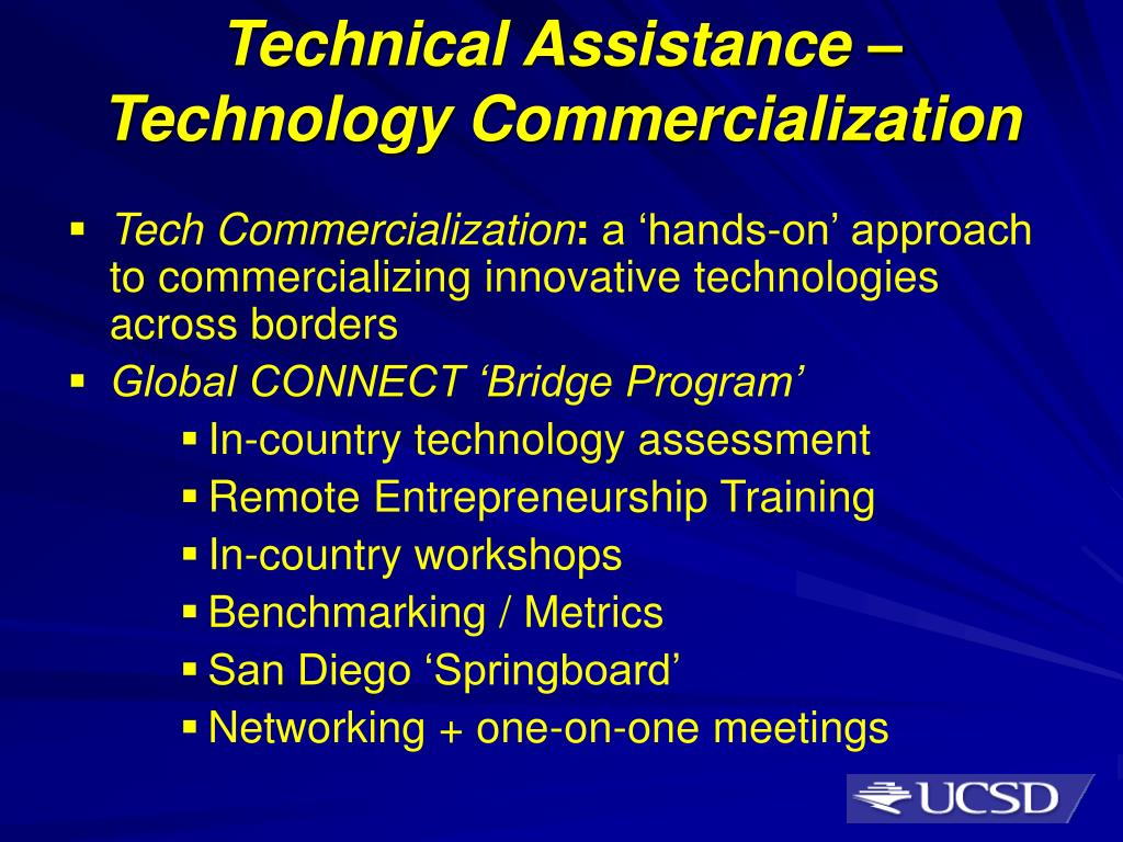 Technical Assistance – Technology Commercialization