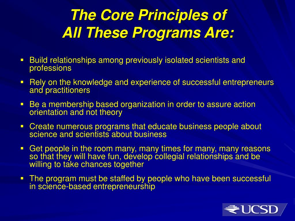 The Core Principles of