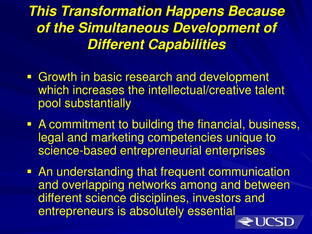 This Transformation Happens Because      of the Simultaneous Development of Different Capabilities