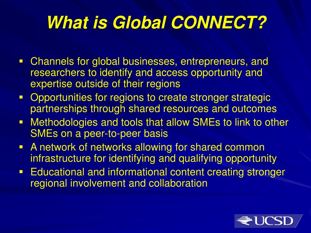 What is Global CONNECT?