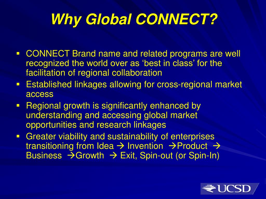 Why Global CONNECT?