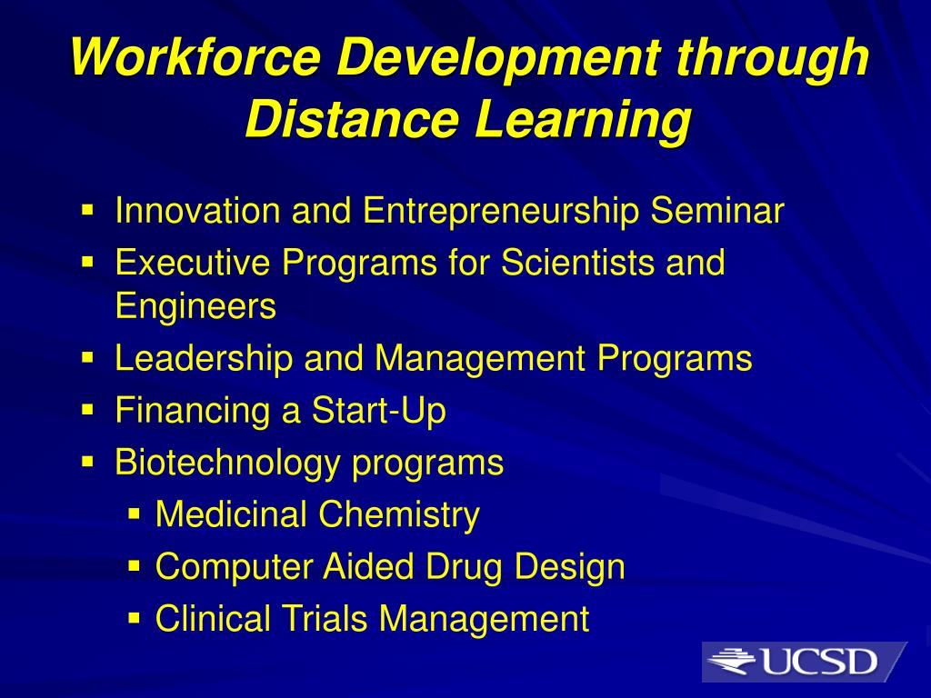 Workforce Development through Distance Learning