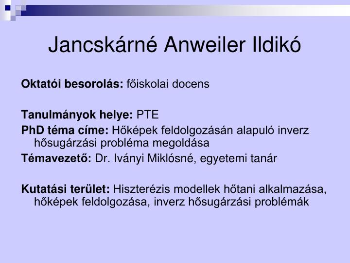 Jancskárné Anweiler Ildikó