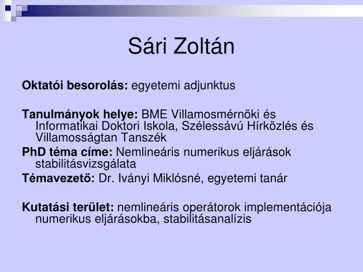 Sári Zoltán