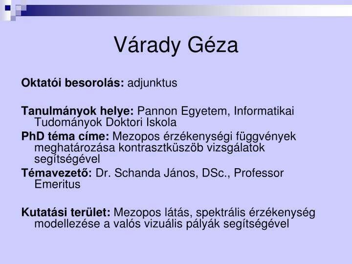 Várady Géza