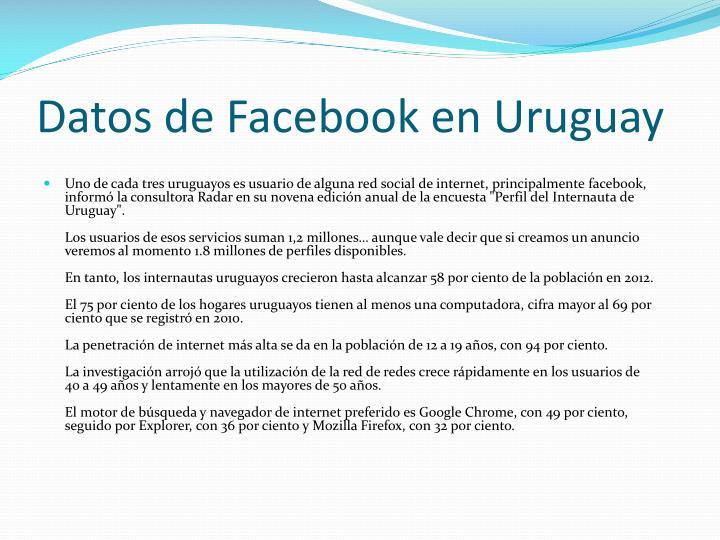 Datos de Facebook en Uruguay