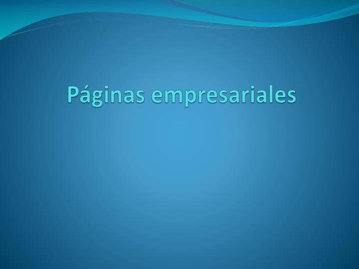 Páginas empresariales