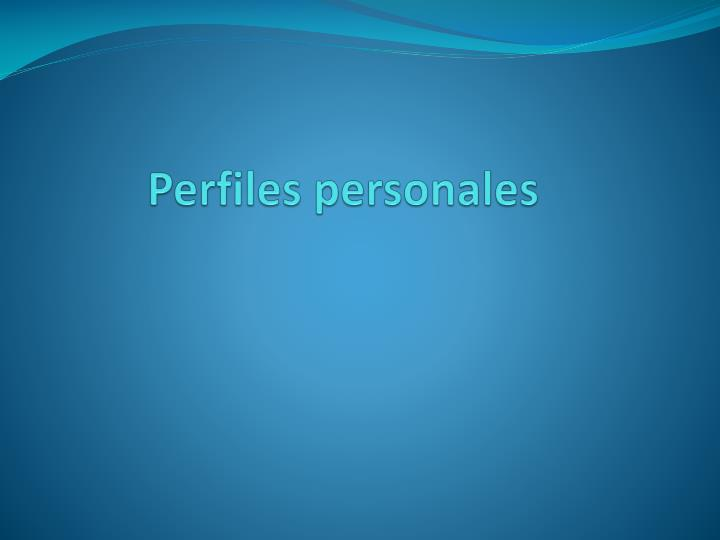 Perfiles personales