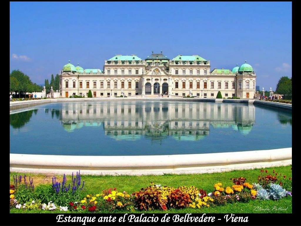 Estanque ante el Palacio de Bellvedere - Viena