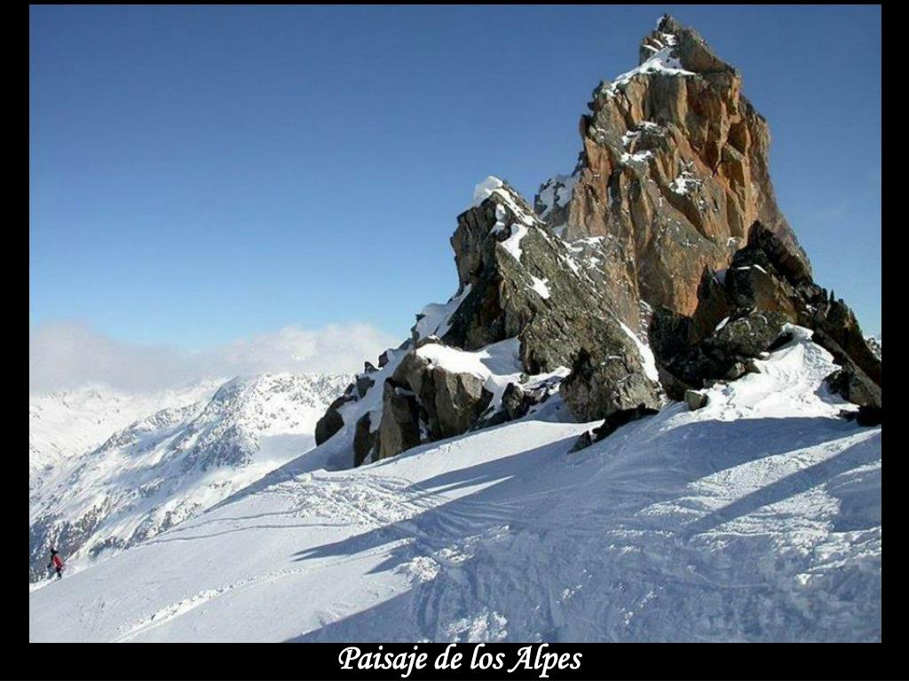 Paisaje de los Alpes