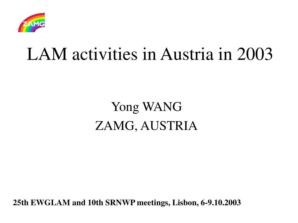 LAM activities in Austria in 2003