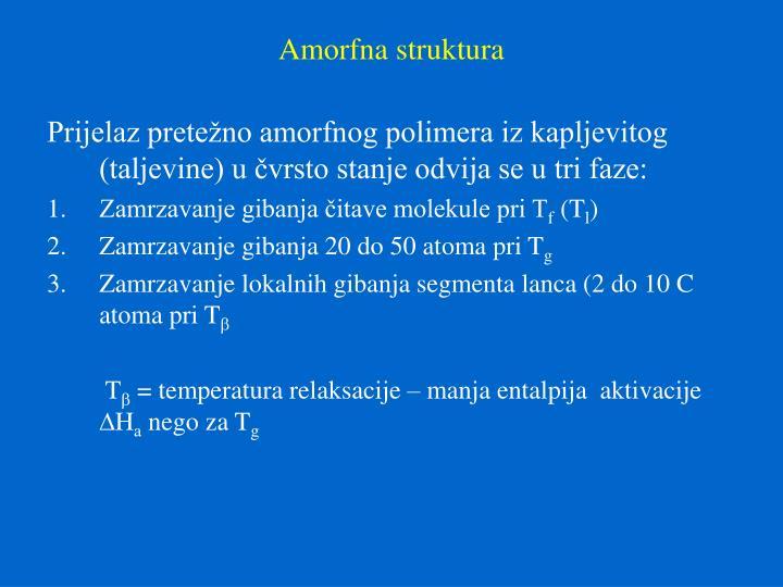 Amorfna struktura