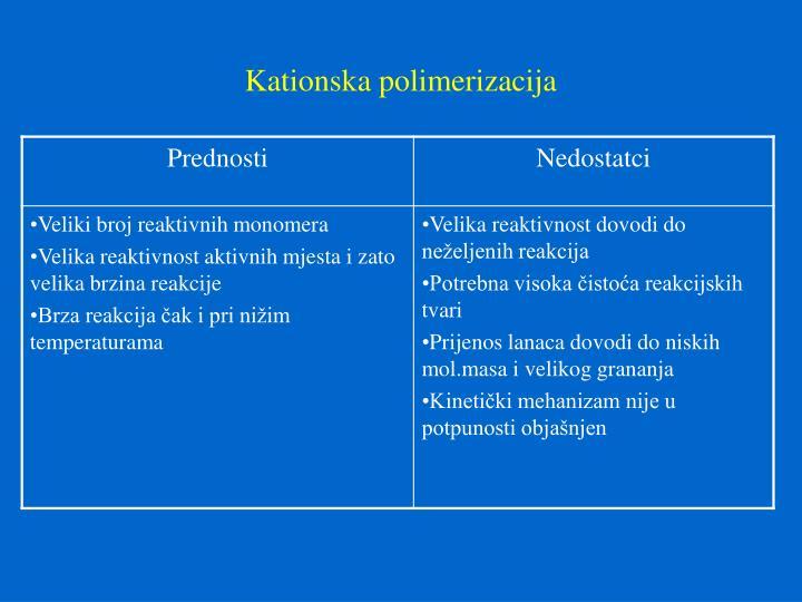 Kationska polimerizacija