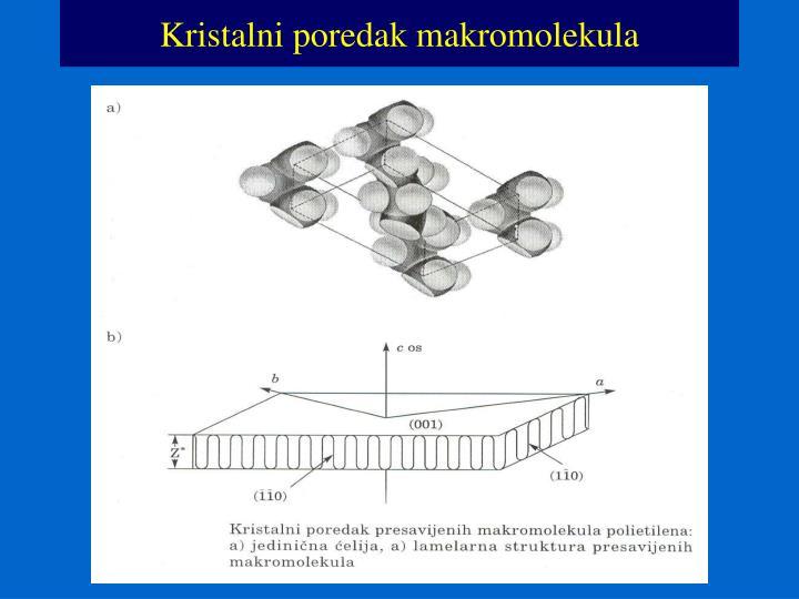 Kristalni poredak makromolekula