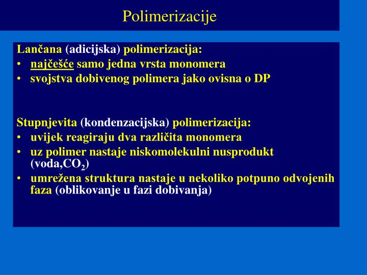Polimerizacije