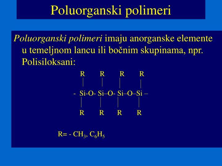 Poluorganski polimeri