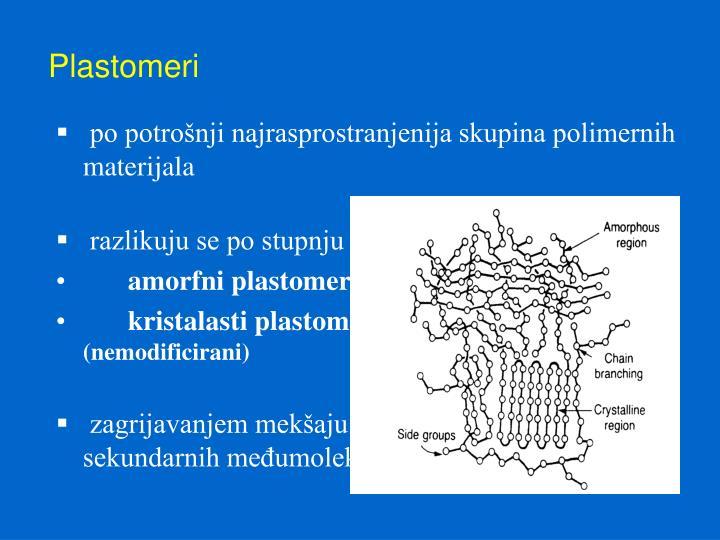 po potrošnji najrasprostranjenija skupina polimernih materijala